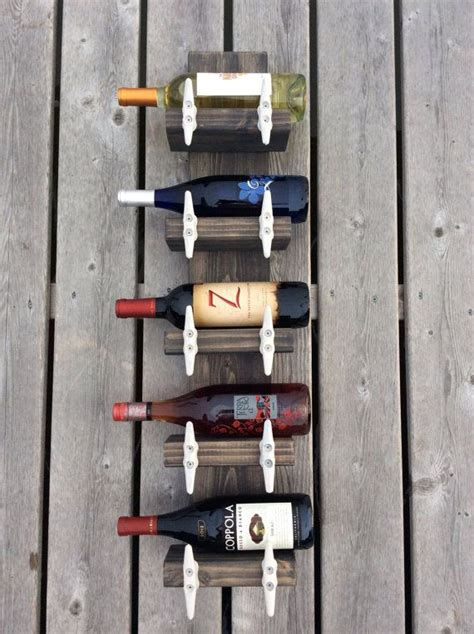 nautical boat cleats nautical boat cleat wine rack towel rack by jmgcouture on