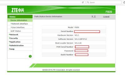 Wifi Zte F609 franco diaz viera