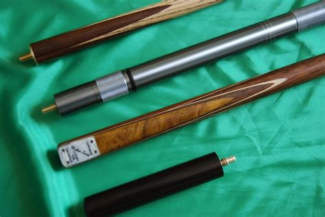 Handmade Pool Cues Uk - handmade 4 grade a ash snooker pool cue complete set