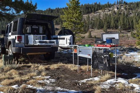 overland jeep kitchen overlanding get a portable kitchen in your jeep modern