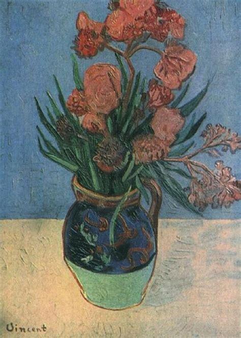 Vincent Gogh Vase by Still Vase With Oleanders 1888 Vincent Gogh