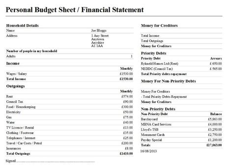 personal finance budget template personal finance budget spreadsheet financial budget