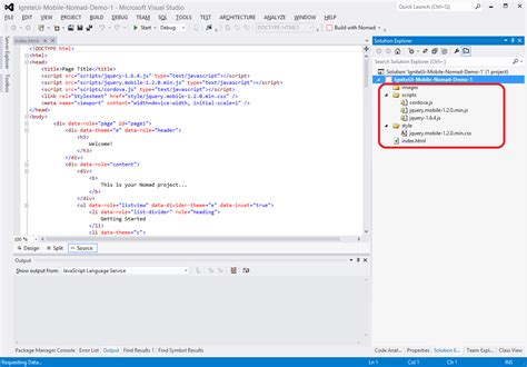 phonegap android tutorial visual studio how to build android applications with ignite ui mobile