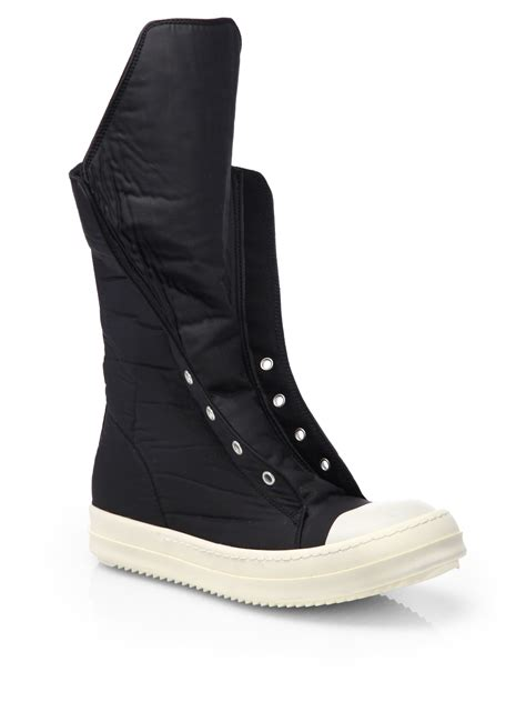 sneaker boots for drkshdw by rick owens ramones hightop sneaker boots in