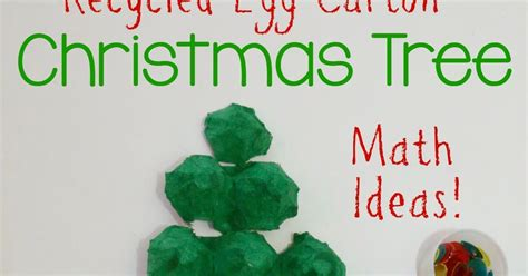 4h christmas tree from old egg carton egg tree math puzzle still school