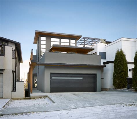 Exterior Home Design Edmonton Paragon Contemporary Exterior Edmonton By Habitat