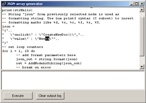 bcp format file quoted strings jsonedit json editor array generator