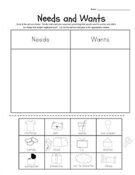 kindergarten activities needs and wants pinterest the world s catalog of ideas