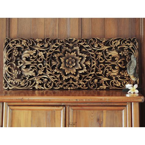 buy carved lotus wall panel