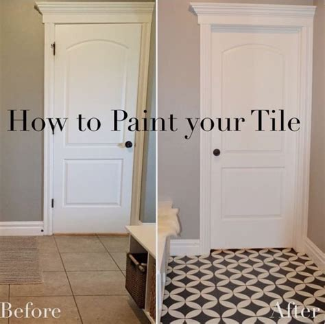 how to paint old bathroom tile best 25 painted tiles ideas on pinterest painting
