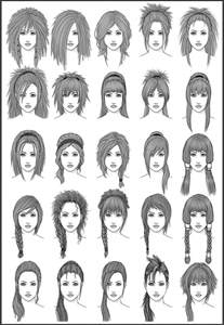 Womens Hair  Set 3 By Dark Sheikah On DeviantArt sketch template