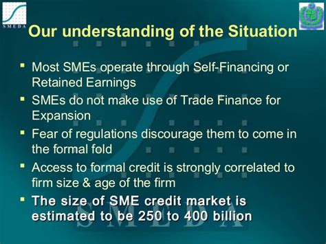 Formal And Informal Credit Sources In Pakistan Sme In Pakistan