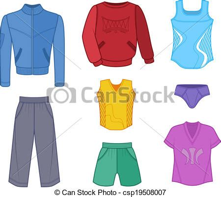 how to set color in clothes set tricot clothes colored isolated on white