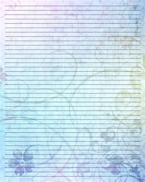 free printable pretty lined paper 11 best images about fax cover letters on pinterest