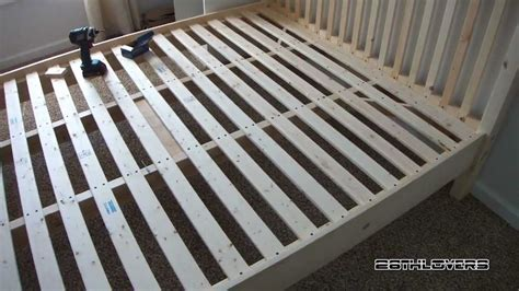 diy wooden bed frame pine