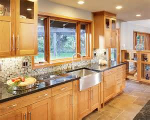 photos with light wood cabinets multi colored backsplash and kitchen design ideas remodels amp
