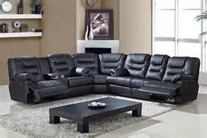 Black Sectional Leather Sofa Black Leather