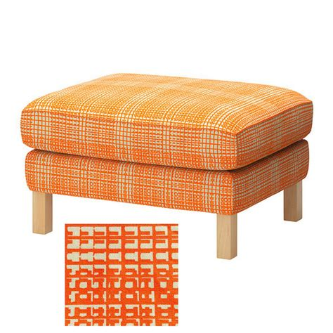orange slipcovers ikea karlstad footstool ottoman slipcover cover husie orange