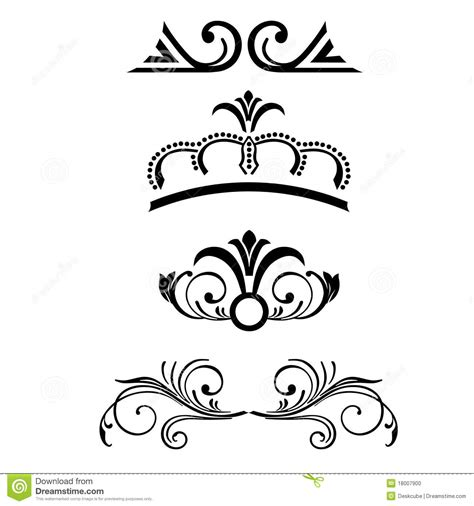 royal design elements vector royal design elements stock photo image 18007900