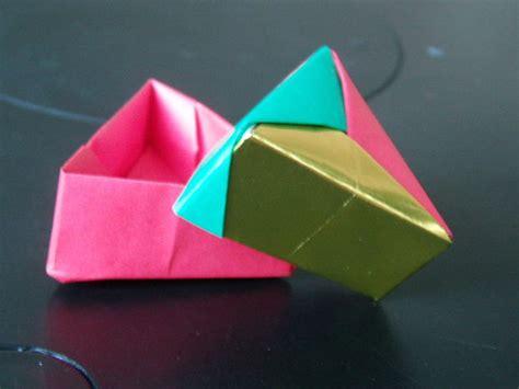 Origami Triangle Box - origami triangle gift box