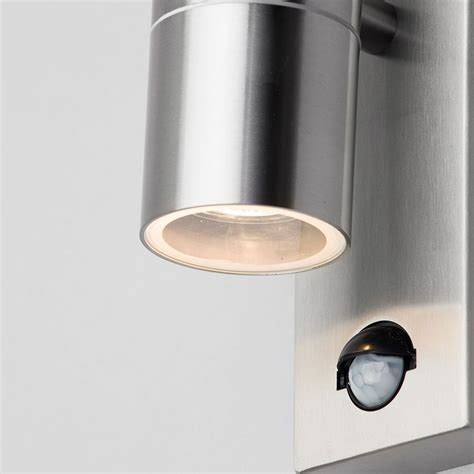 up and down lights with sensor leto 2 light outdoor up and down wall light with pir