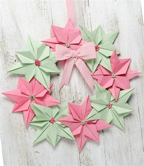 i made origami christmas decorations out of paper bored