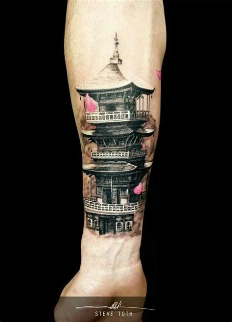 tattoo templo oriental significado japanese temple tattoos pinterest temples