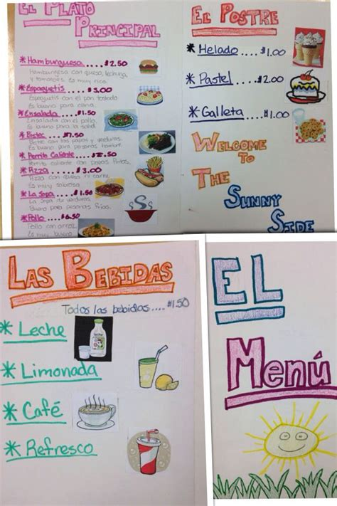 projecte javerm el meu spanish 1 menu assignment easy and creative way to review food names and descriptions i find