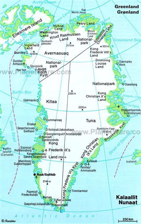 greenland map with cities map of greenland with towns
