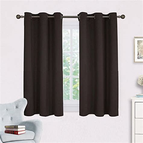 dark brown blackout curtains 2 blackout curtain panels 42 quot x45 quot dark brown draperies