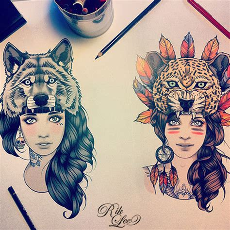 tattoo animal drawings traditional wolf tattoo on tumblr