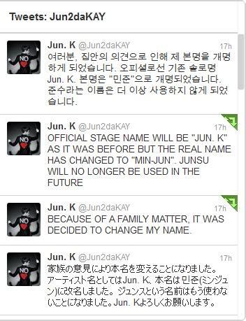 membuat nama asli menjadi nama korea junsu 2pm mengganti nama asli nya menjadi min jun