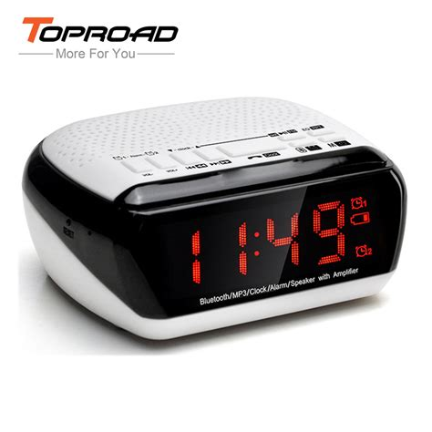 Mp3 Alarm Clock 1 6 by Toproad Bluetooth Speaker Wireless Portable Alarm Clock Speaker With Fm Radio Time Display