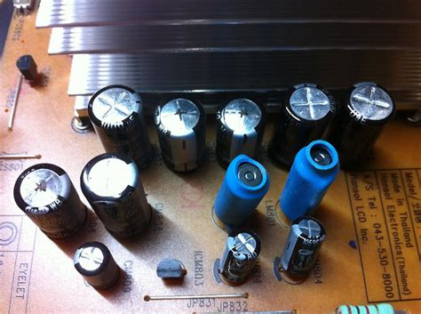 bad capacitors on samsung tv adventures at lazy c samsung lcd tv self repair capacitor replacement