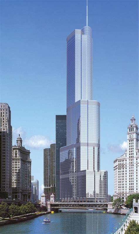 world of architecture tallest towers trump tower chicago trump international hotel and tower in chicago