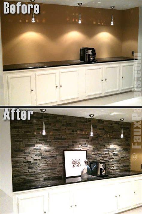 home design faux stone and kitchen backsplash on pinterest