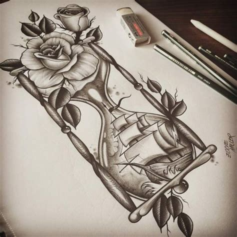 neck tattoo designs drawings hourglass via facebook rosas pinterest hourglass