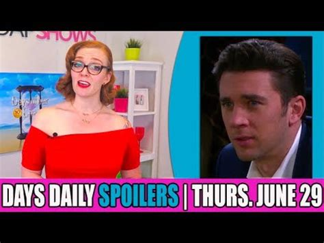 days of our lives cast updates and spoilers why true o days of our lives dool daily spoilers update for