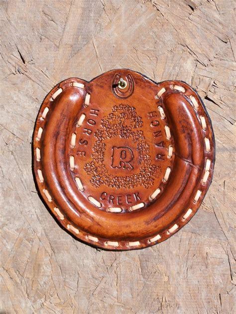Handmade Horseshoes - leather wrapped horseshoe custom made handmade leather