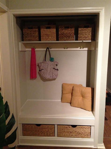 foyer nook ideas how to transform a closet into a nook recipe front