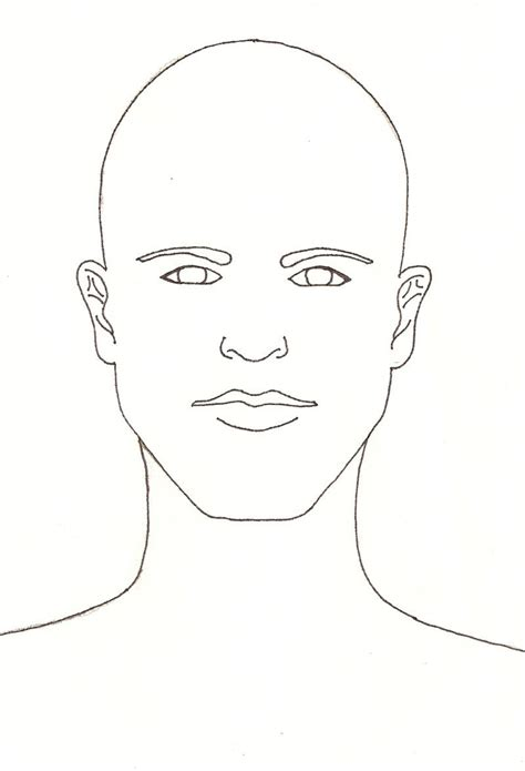 Outline Of A Portrait by Portrait Template By Jediprincess On Deviantart