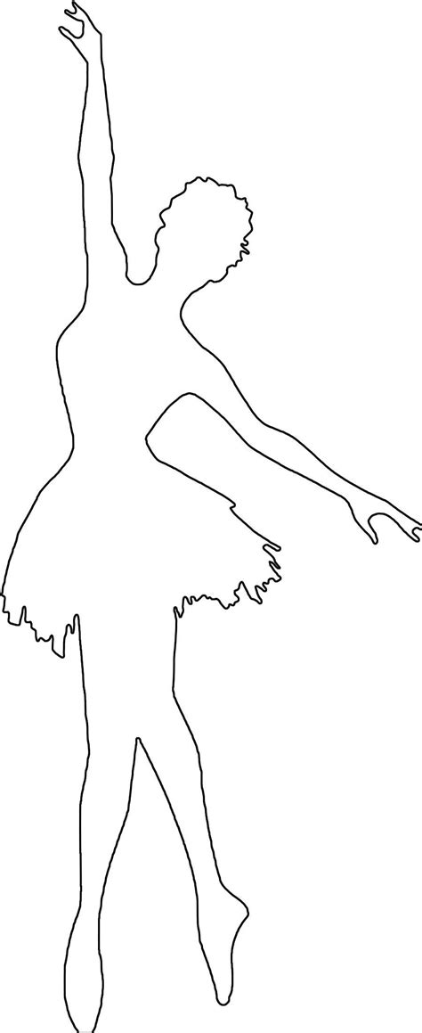 Paper Ballerina Template image result for ballerina silhouette coloring pages