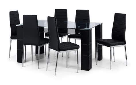 glass table with 4 chairs greenwich glass table 4 chairs telly 4u