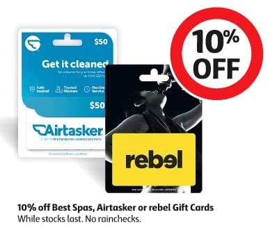 Gift Card Rebel Itunes - expired 10 off best spas airtasker and rebel gift cards at coles gift cards on sale