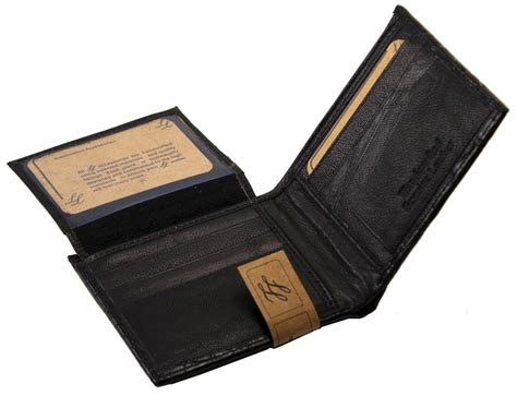 Genuine Leather mens western genuine leather wallet bifold ostrich print