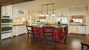 Red kitchen island with white cabinets rustic red painted kitchen
