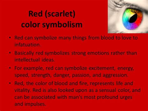 what color represents strength the scarlet ibis by hurst ppt