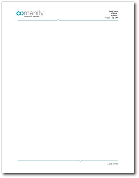 Bank Letterhead Paper alliancedata stationery store