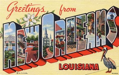 greetings from new orleans louisiana large letter postc