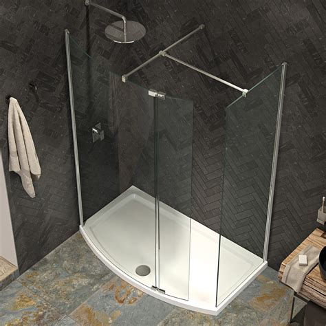 A 700 Shower by Kudos Ultimate 2 8mm Curved Walk In Shower Enclosure 1500